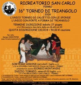 locandina triangolo 2009